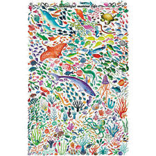 Wooden Jigsaw Puzzle 500 PCS Beautiful Mariue Life Fish Cartoon Animal Painting
