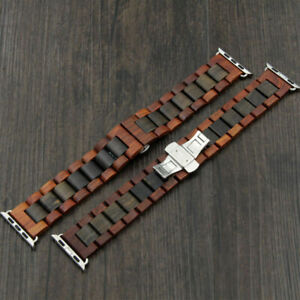Coffee Wooden Strap Wood Watch Band Bracelet Wrist Band For Apple Watch iWatch