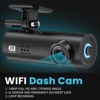 WIFI Dash Cam HD 1080P Hidden Car DVR Camera Recorder Night Vision G-Sensor USA