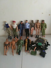 12 In. Action Figure Lot Of 11 Gi Joe Max Steel and others + accessories