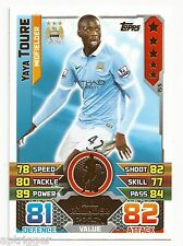 2015 / 2016 EPL Match Attax Base Card (155) Yaya TOURE Manchester City