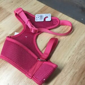 Master Paws Medium Pink Polyester Dog Harness