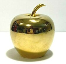 Vintage Solid Brass Paperwieght Sculpture ~ No Leaf ~ Heavy Weighs 1 Lb 8.5 Oz.