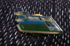 Great Advertising Push pin Badge Card Bleue Finance