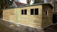 QUALITY MADE TO ORDER 16 X 12 WOODEN GARAGE WORKSHOP