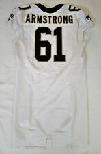 #61 Matt Armstrong Authentic Nike Game Worn Jersey from New Orleans Saints