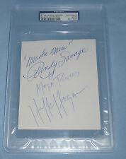 The Mega Powers Hulk Hogan Macho Man Randy Savage Signed Cut PSA/DNA COA WWE WWF
