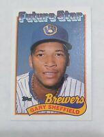 1989 Topps Gary Sheffield Milwaukee Brewers ROOKIE Baseball Card #343HOF