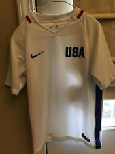 Nike Youth Med Girl Authentic Usa Soccer Jersey National Team Dri Fit 2016 White