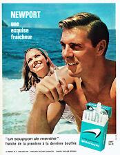 Publicité Advertising 107  1965  cigarettes Newport menthe menthol *