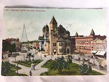 1910 San Jose Electric Light Tower Postcard COLLAPSED 1915