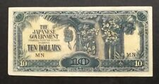 10 dollars Malaya Japan Occupation note # 80