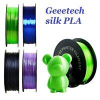 Geeetech Silk PLA Filament 1.75mm Imprimante 3D 1kg Noir Blanc Bleu