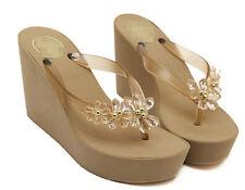 Womens  Beach Thong Sandals foam-rubber slipper Platform Wedge heel Flip Flops
