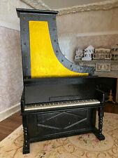 Vintage Miniature Dollhouse 1:12 Upright Stand Up Piano Music Box Amazing Grace
