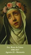 SPANISH St. Rose of Lima Prayer Card (wallet size)