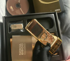 LUXURY NEW NOKIA 8800 SIROCCO GOLD LV EDITION UNLOCKED GSM PHONE MADE IN GERMANY