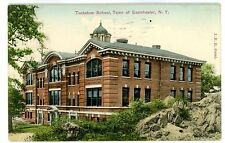 Tuckahoe NY -PUBLIC SCHOOL IN TOWN OF EASTCHESTER- Handcolored Postcard
