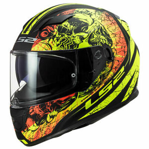 LS2 FF320 Stream Evo Throne DVS Motorcycle Helmet Yellow Motorbike Crash Lids