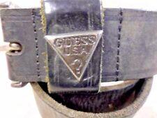 """Men GUESS VNTG LEATHER BELT BLACK SIZE M 29"""" GRADE B LB216"""