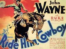 Film Film West DUKE JOHN WAYNE Ride lui Cowboy art print poster BB7904