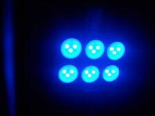 "2 x Shinny Blue 31mm LED 1.25"" 6428 3175 6-SMD Dome Festoon Interior Light Bulbs"