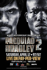 Manny Pacquiao v Timothy Bradley 2 World Boxing Promo Poster Pacman