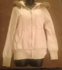 Women's Ivory Nixon Zip Up Hoodie Seeatshirt Faux Fur Cool Design On Liner