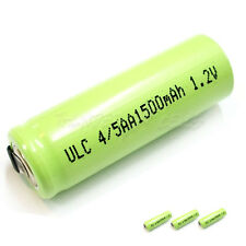 4 x 4/5AA 4/5 AA 1500mAh 1.2V NiMH Ni-MH Rechargeable Battery with Tabs Green
