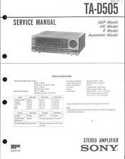 Sony Original Service Manual für TA-D 505
