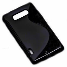 S-Rubber Silikon TPU handy Hülle Cover Case in Schwarz für  LG P700 Optimus L7