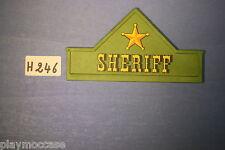 (H246) playmobil pièce maison western shériff 3786