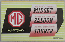 MG TD 1949 Brochure Nuffield press publication  NEL135