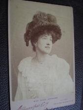 Cdv cabinet photograph actress Grace Hawthorne London Stereoscopic c1890s