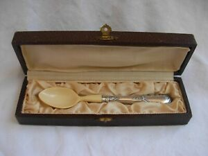 ANTIQUE FRENCH STERLING SILVER HANDLE BABY SPOON,LATE 19th OR ERLY 20th CENTURY