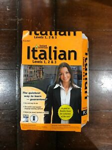 Learn How To Speak Italian With Instant Immersion Levels 1-3 DAMAGED Retail Box