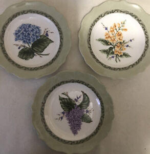 NEW IN BOX: SET OF 4 PRINCESS HOUSE VINTAGE GARDEN SALAD LUNCHEON PLATES # 1481