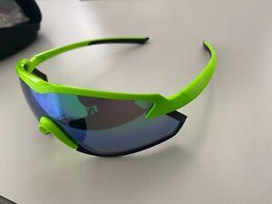 Shimano S-Phyre X1-PL Sonnebrille Multigläserneon grün Road Custom