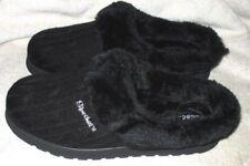 New ~ **SKECHERS**  Black, Fleece Lined, Slip On, Slipper Shoe, 9.5M