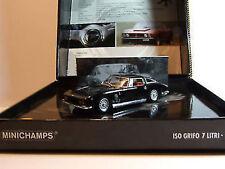1:43 MINICHAMPS 1968 Iso Grifo 7 Litri Noir Lmtd.edition 3333 Neuf Dans Ovp