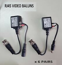 6pairs Video Camera Baluns BNC Connector CAT5e Cat6 RJ45 Coaxial CCTV UTP Cable