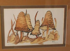 """Rare Vintage """"Toadstool"""" by Oliver-Limited 146/275 Signed/Double Matted/Framed"""