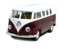 """5"""" Kinsmart Classic 1962 Volkswagen Bus Van Diecast Model Toy 1:32 Scale Maroon"""