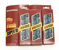 Vintage 3 Packs SYLVANIA Flip Flash Super 10 For Cameras - Total 30 Bulbs
