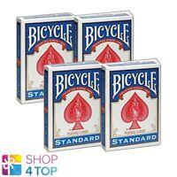 4 DECKS BICYCLE DOUBLE FACE NO BACK STANDARD ZAUBERTRICKS NEU