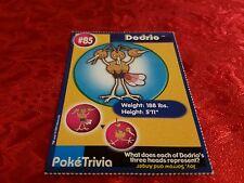 Burger King Pokemon Promo Card Dodrio #85