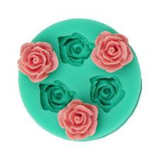 Mini Rose Flower Silicone Clay Soap Mold Fondant Sugarcraft Cake Decorating DIY`
