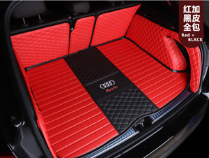 For Audi-A-S-RS-1-2-3-4-5-6-7-8-2004-2021Car trunk mat