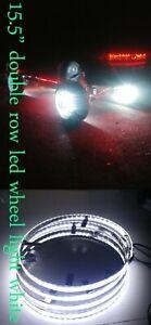 """15.5"""" Super Bright White LED Wheel Ring Double Row White LED Strip Light 4 Rings"""