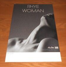Rhye Woman 2-Sided Promo Tour 2013 Poster 11x17 RARE
